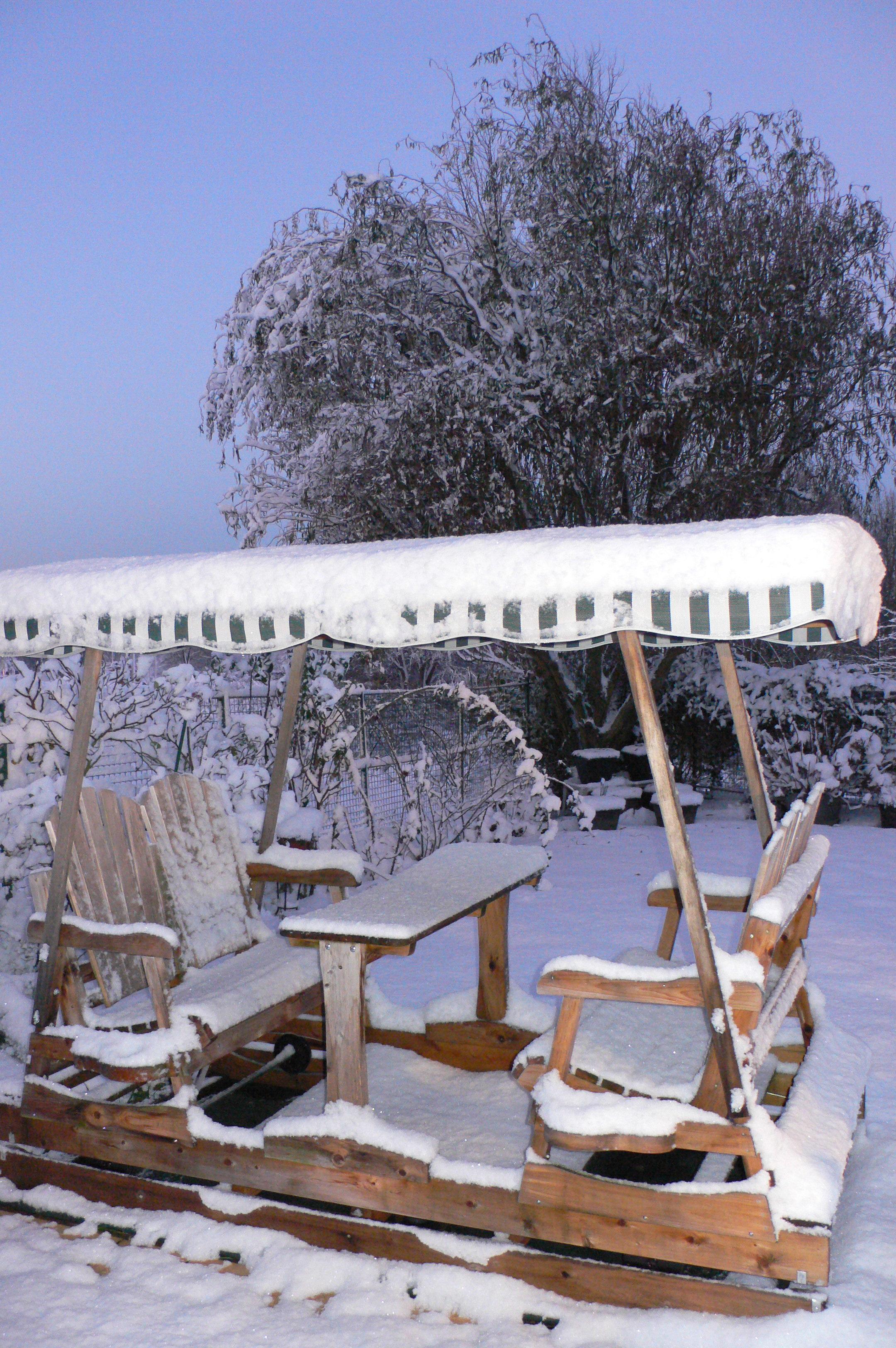 balançoire à roues sous la neige 2eme hiver