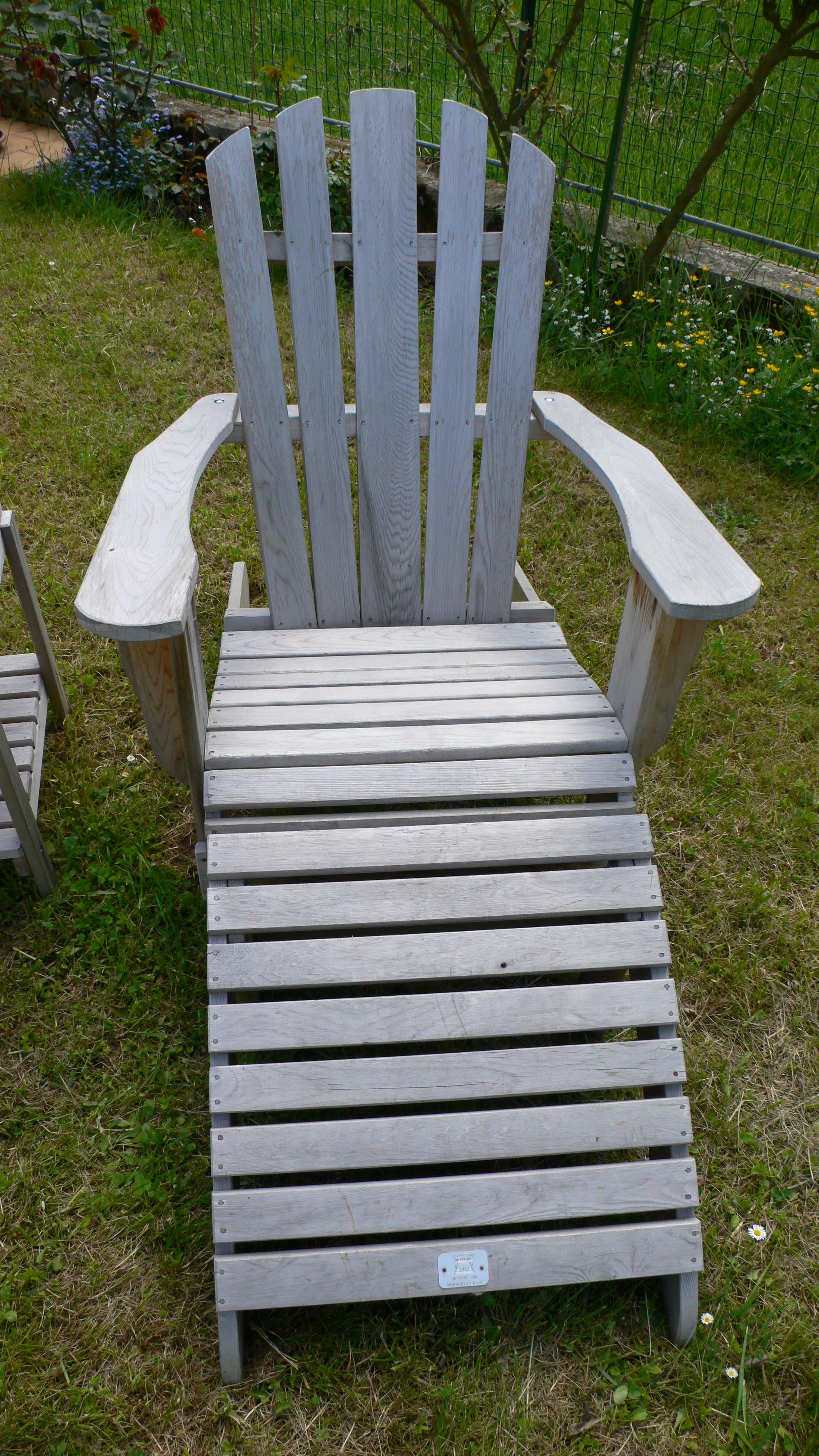 fauteuil Adirondack après 3 ans de vieillissement
