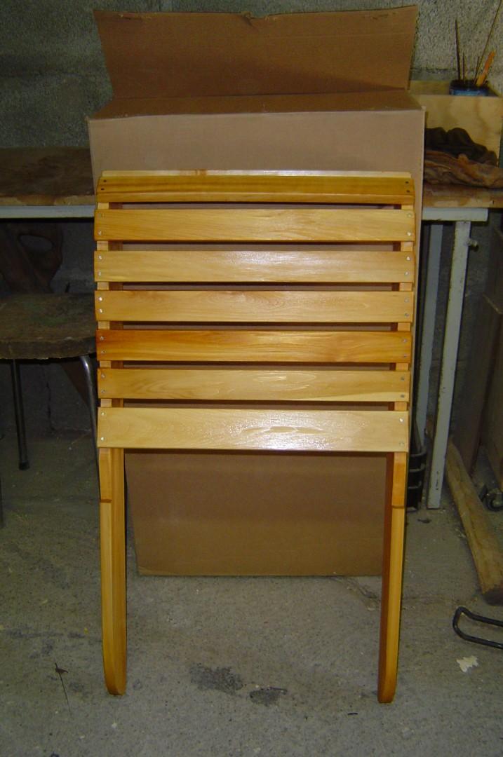 photo client après teinture fauteuil Adirondack
