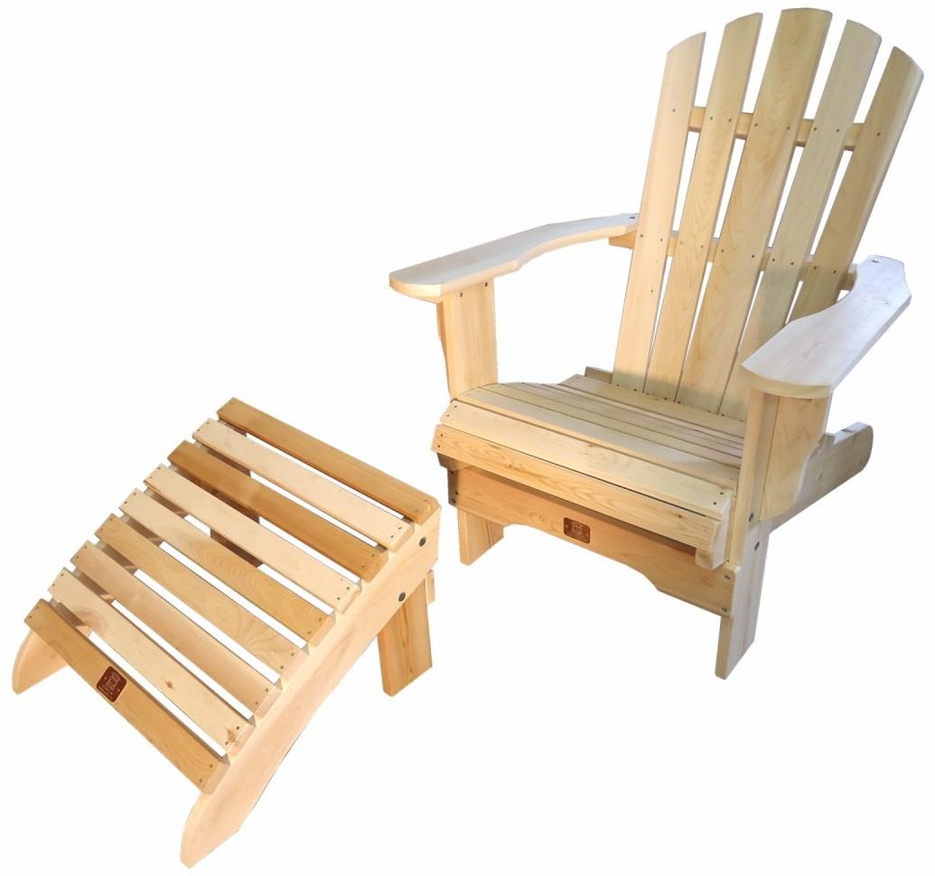Coussin Pour Fauteuil Adirondack fauteuil adirondack fixe avec repose-pieds en cèdre brut canada