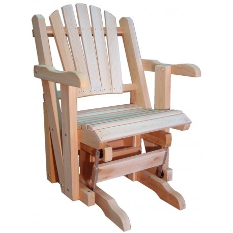 rocking chair canadien adirondack de jardin une place sur roulements