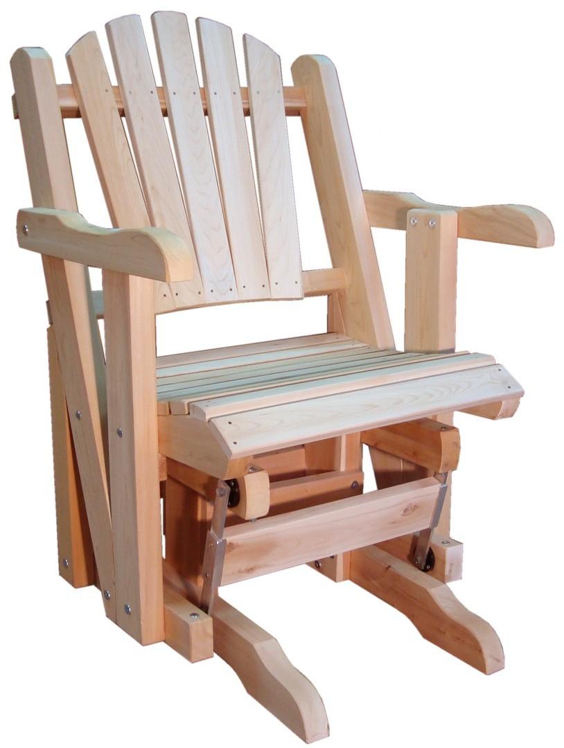 rocking chair canadien adirondack de jardin une place sur roulements