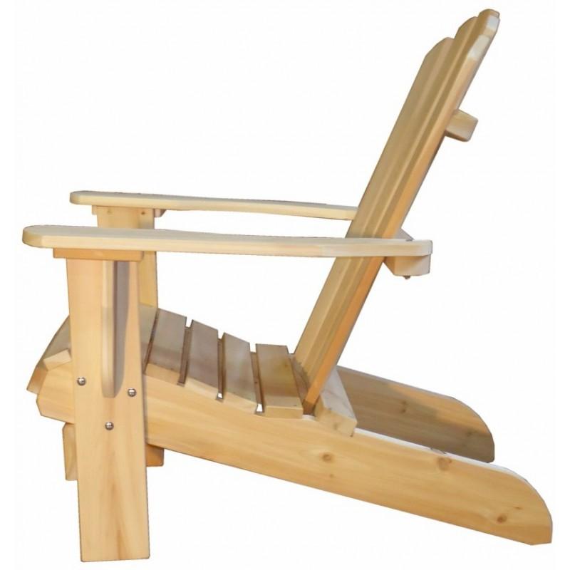 Fauteuil adirondack fauteuil de jardin en bois muskoka for Plan chaise en bois
