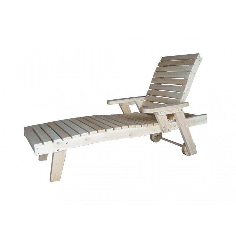 Chaise longue bain de soleil kebek for Chaise longue avec pare soleil